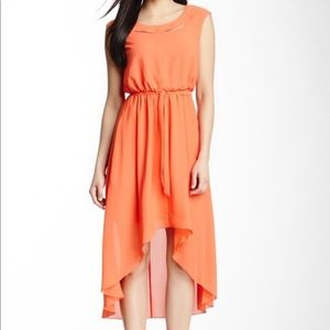 New Jessica Simpson high low coral maxi dress